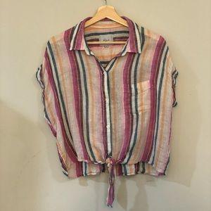 Rails Colored Stripe Button Down Shirt, M